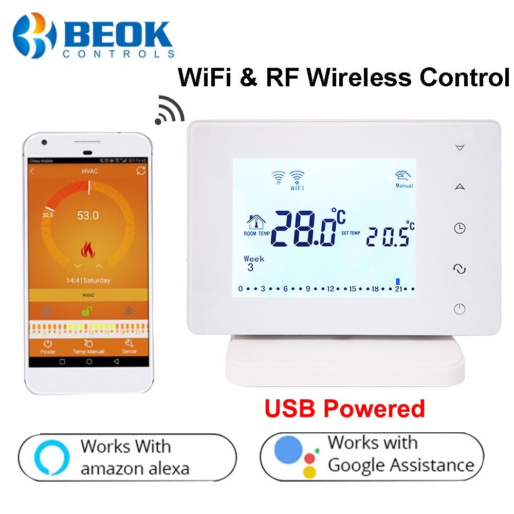 Thermostat Programmable Wifi Reglable Semaine Température Chaudière Gaz Tactile