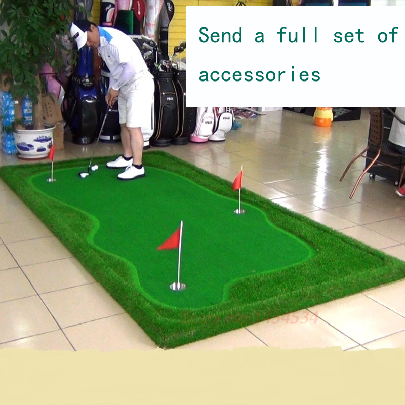 PGM New Indoor Mini Golf Putting Green Mat Mini Set Personal Trainer Putting Green Mat Practice Exercises Blanket Kit