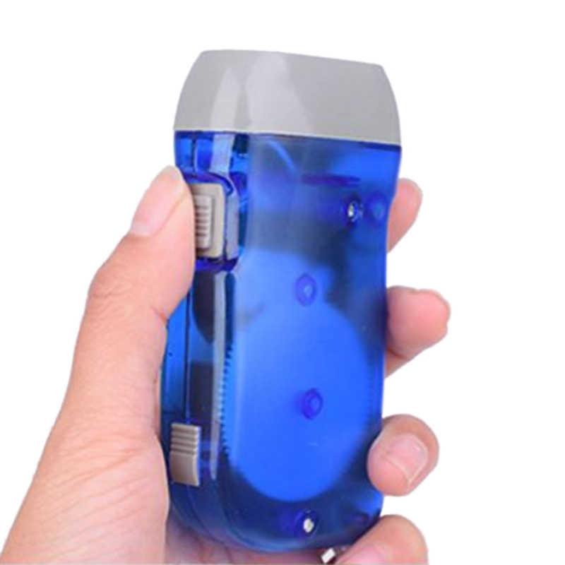 Minilinterna LED Dinamo con pulsador manual, linterna LED de emergencia para el hogar, dínamo, lámpara de mano con autocarga