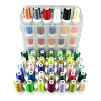 Simthread Polyester Machine Embroidery Thread 40/63/80 Brother Colors With Plastic Storage Box