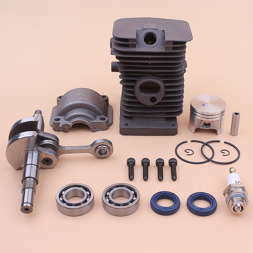 Crankshaft 37mm Cylinder Piston Engine Pan Base Kit For Stihl MS170 017 MS 170 Crank Bearing Oil Seal Chainsaw 1130 020 1204