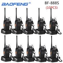 10PCS Baofeng BF 888S ווקי טוקי 888s 5W 16 ערוצים 400 470MHz UHF FM משדר שני דרך רדיו Comunicador חיצוני מירוץ