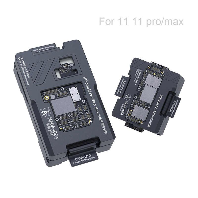 Qianli placa mãe teste fixação isocket jig, para iphone 11pro max 11pro 11 xsmax xs x função de placa lógica teste rápido suporte