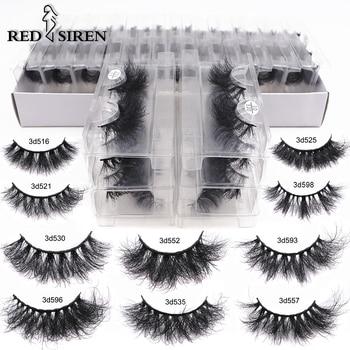 RED SIREN Mink Lashes Wholesale Eyelashes Bulk 5/30/50 Pairs Soft Fluffy Messy Natural Mink Lashes Makeup Mink Eyelashes 1