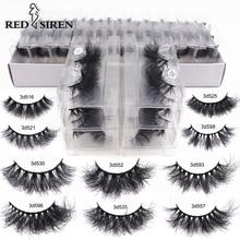RED SIREN Mink Lashes Wholesale Eyelashes Bulk 5/30/50 Pairs Soft Fluffy Messy Natural Mink Lashes Makeup Mink Eyelashes