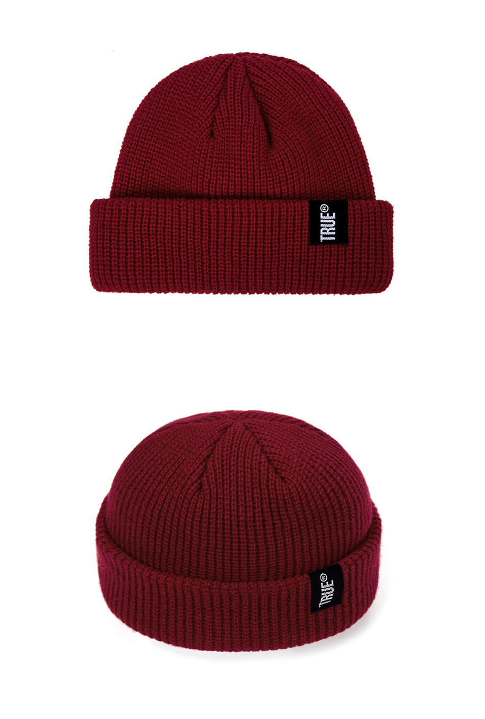 2019 Fashion Unisex Winter Hat Men Cuffed Cib Knit Hat Short Melon Ski Beanies Autumn Winter Solid Color Casual Beanie Hat 30