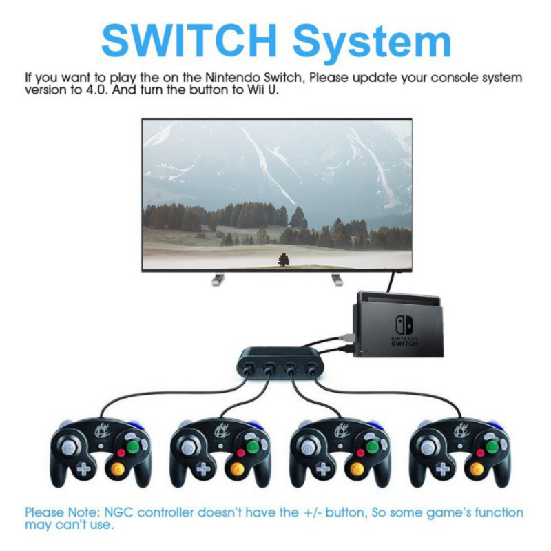 How to use wii u gamecube adapter on switch