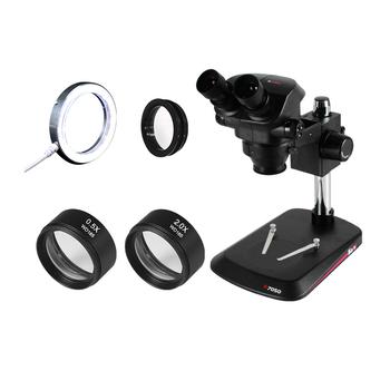 2020 Kaisi 7X-50X mikroskop Stereo mikroskop obuoczny 0 5x 2 0x pomocniczy obiektyw + WF10X 22mm okular gumowe osłony oczu tanie i dobre opinie Topitico CN (pochodzenie) 500X i Pod Metal Wysokiej Rozdzielczości Mikroskop stereoskopowy Dwuobiektywowe 20X-100X SZM2 0X SZM0 5X