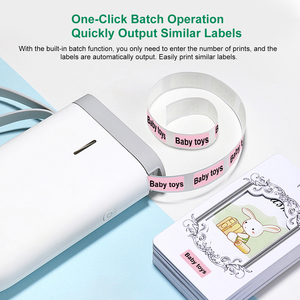 Image 4 - Impresora de etiquetas inalámbrica D11, portátil, de bolsillo, conexión BT, impresión rápida para el hogar y la Oficina