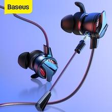 Baseus auriculares con cable, tipo C, 3,5mm, para Huawei, Xiaomi, Samsung, auriculares estéreo Surround especiales para videojuegos con micrófono