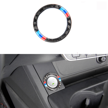 For BMW 3 series E90 E92 E93 E89 Z4 car carbon fiber engine start-stop button ignition key ring interior decoration trim image