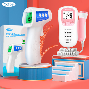 doppler fetal heart rate monitor for pregnant without radiation stethoscope listening to baby fetal heart rate tool detector Cofoe Forehead No Contact Infrared Baby Adult Thermometer for fever Fetal Doppler Ultrasound Baby Heart rateMonitor For Pregnant