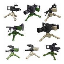 Without mini figures Machine gun Military assembled building block Fit lego World War II Weapon Accessories Compatible with toys