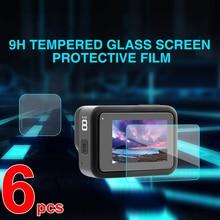 Защитная пленка из закаленного стекла для Gopro Hero 8, спортивная защита для экрана камеры, 6 шт., аксессуары для камеры Gopro 8