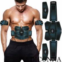 Máquina de tóner muscular eléctrica para hombres, equipo de Fitness de construcción corporal, cinturón de tonificación inalámbrico, 6 paquetes, Abs, quemador de grasa, rodillos Ab
