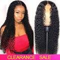 Стабильно вьющиеся передние парики из человеческих волос на сетке для женщин, бразильские вьющиеся человеческие волосы, парики 28 дюймов, 150%...