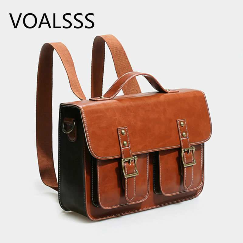 2020 New Genuine Leather Women's Multifunctional Briefcase Large Capacity Shoulder Bag Laptop Bag Style Messenger Bags Handbag
