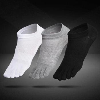 1 para oddychające Unisex mężczyźni kobiety skarpetki sportowe idealne na pięć 5 palec u nogi buty sprzedaż stałe skarpety z siatką mężczyzn tanie i dobre opinie CN (pochodzenie) STANDARD Na co dzień COTTON D02373 Kostki