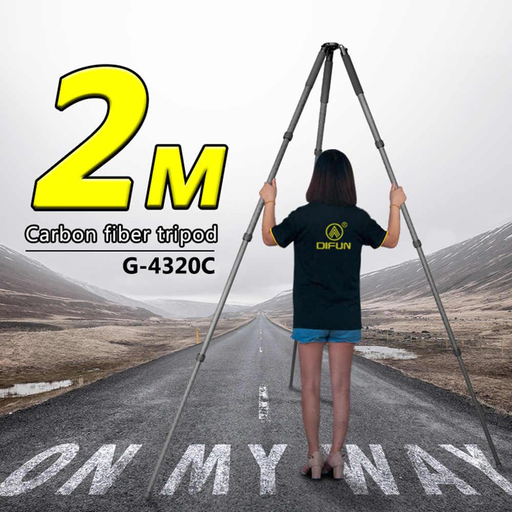 2M Profesional Chụp Ảnh Chân Máy Ảnh Carbon 32 Đường Kính Lớn Ổn Định Tam Giác Không Bàn Bóng Bát G-4320C