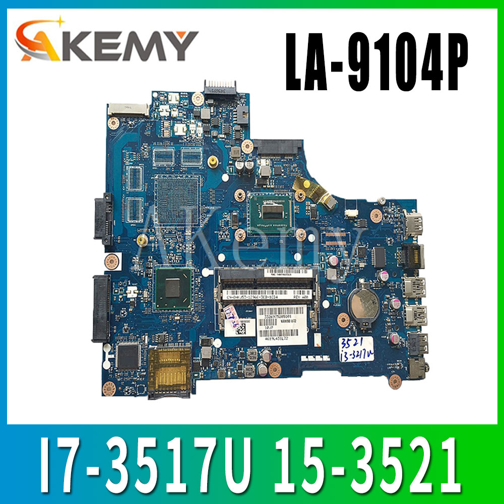 AKEMY LA-9104P original mainboard For DELL Inspiron 15-3521 5521 with I7-3517U Laptop motherboard(China)