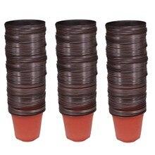 150 pces 4.72 Polegada plântulas de flores de plástico fontes do berçário plantador pot/potes recipientes sementes de partida potes de plantio