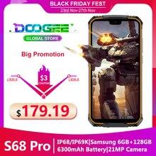 Doogee S68 Pro смартфон с 5,5 дюймовым дисплеем, восьмиядерным процессором Helio P70, ОЗУ 6 ГБ, ПЗУ 128 ГБ, 21 МП, 8 Мп, 8 Мп, 5,84 дюйма, 6300 мАч, 12 В/2 А