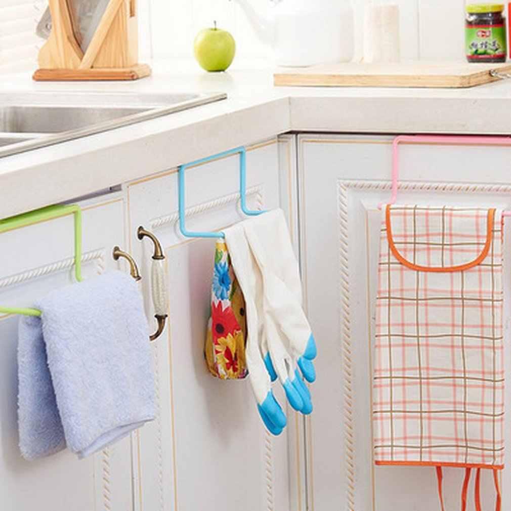 Ręcznik wspornik na dach uchwyt wiszący Rail Organizer szafka łazienkowa wieszak do szafki akcesoria kuchenne przechowywanie uchwyt na półkę