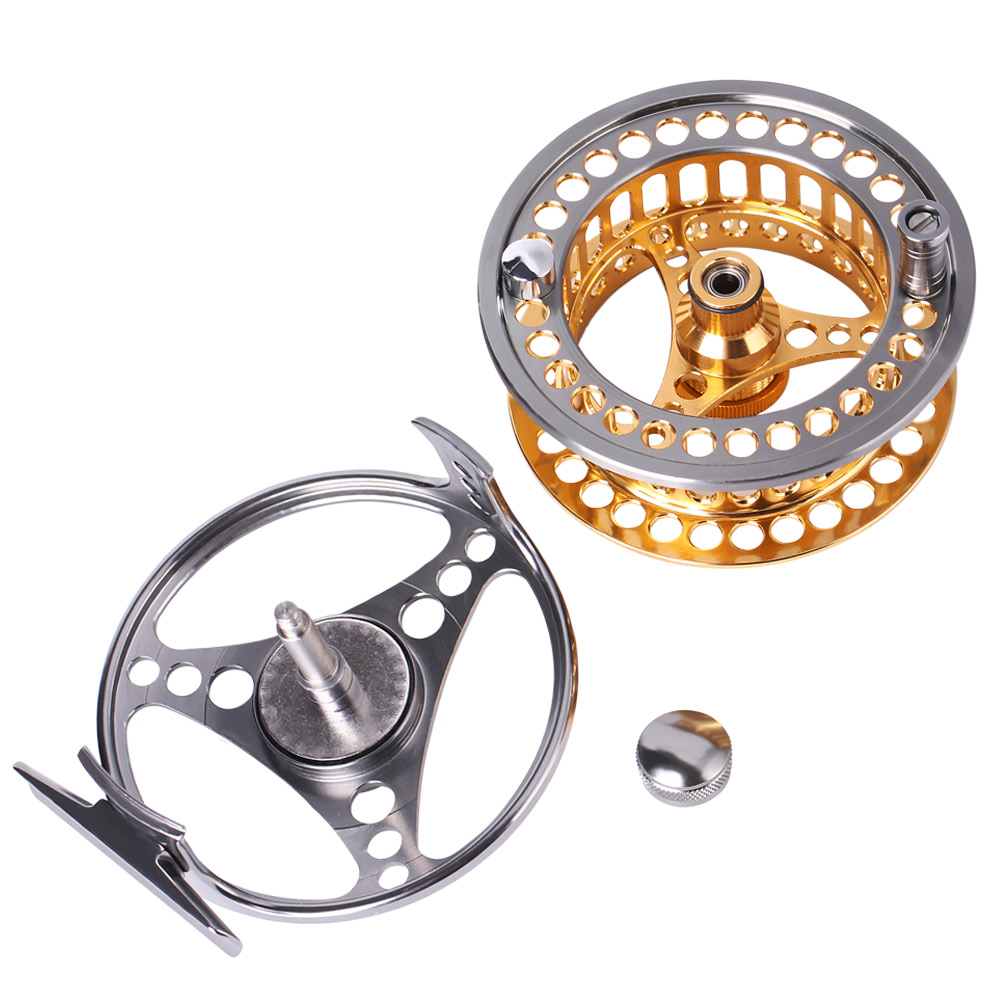 Sougayilang Large Arbor Fly Fishing Reel 2+1 BB High Die Casting Aluminium Alloy Spool Fly Reels Fishing Tackle 10