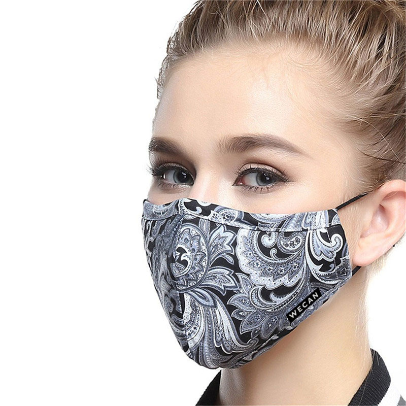 korean Cotton Anti Dust Mouth Face Mask Kpop Unisex maska with Carbon Filter KN95 face mask Anti PM2.5 Black Mouth-muffle Mask 5