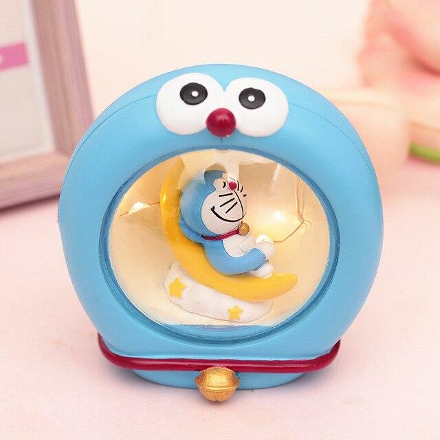 도라에몽 문 도서 나이트 라이트 수지 피규어 #2563 홈 인테리어 완구 brinquedo collectible toy kids 생일 선물