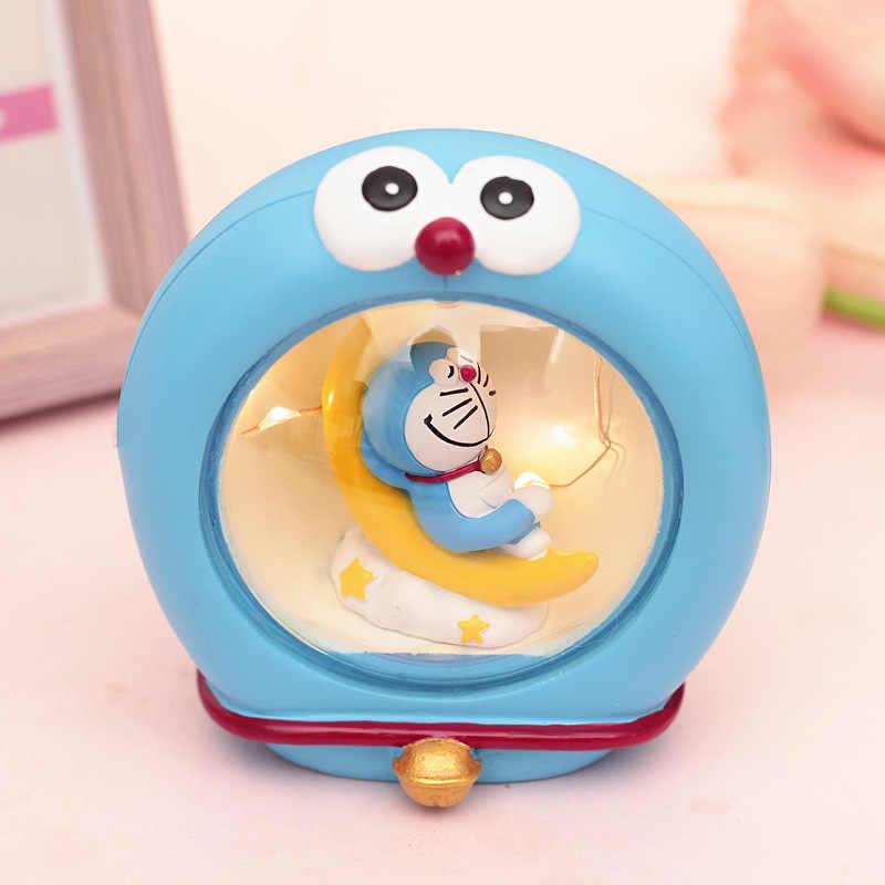 Doraemon Mặt Trăng Sách Đèn Ngủ Nhựa Nhân Vật #2563 Trang Trí Nhà Đồ Chơi Brinquedo Sưu Tập Đồ Chơi Trẻ Em Quà Tặng Sinh Nhật