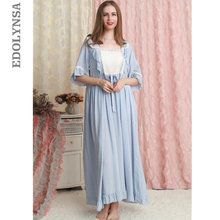 Lace Nightgown 2020 Sleepwear Dress Nightgown Ladies Loose Casual Nightdress Length Nightwear Cotton Fashion Nighties T583