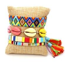 Набор радужных браслетов rttooas с бусинами Миюки богемные эффектные
