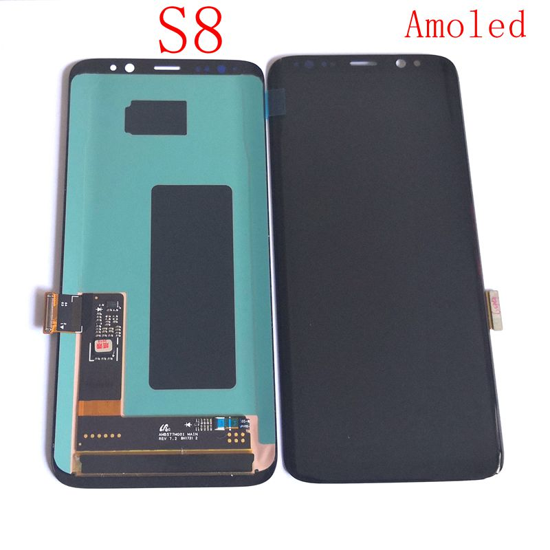 Amoled For <font><b>Samsung</b></font> <font><b>Galaxy</b></font> <font><b>S8</b></font> G950F <font><b>G950</b></font> G950FD Lcd Screen+display+Touch Glass Frame Assembly Replacement Amoled image