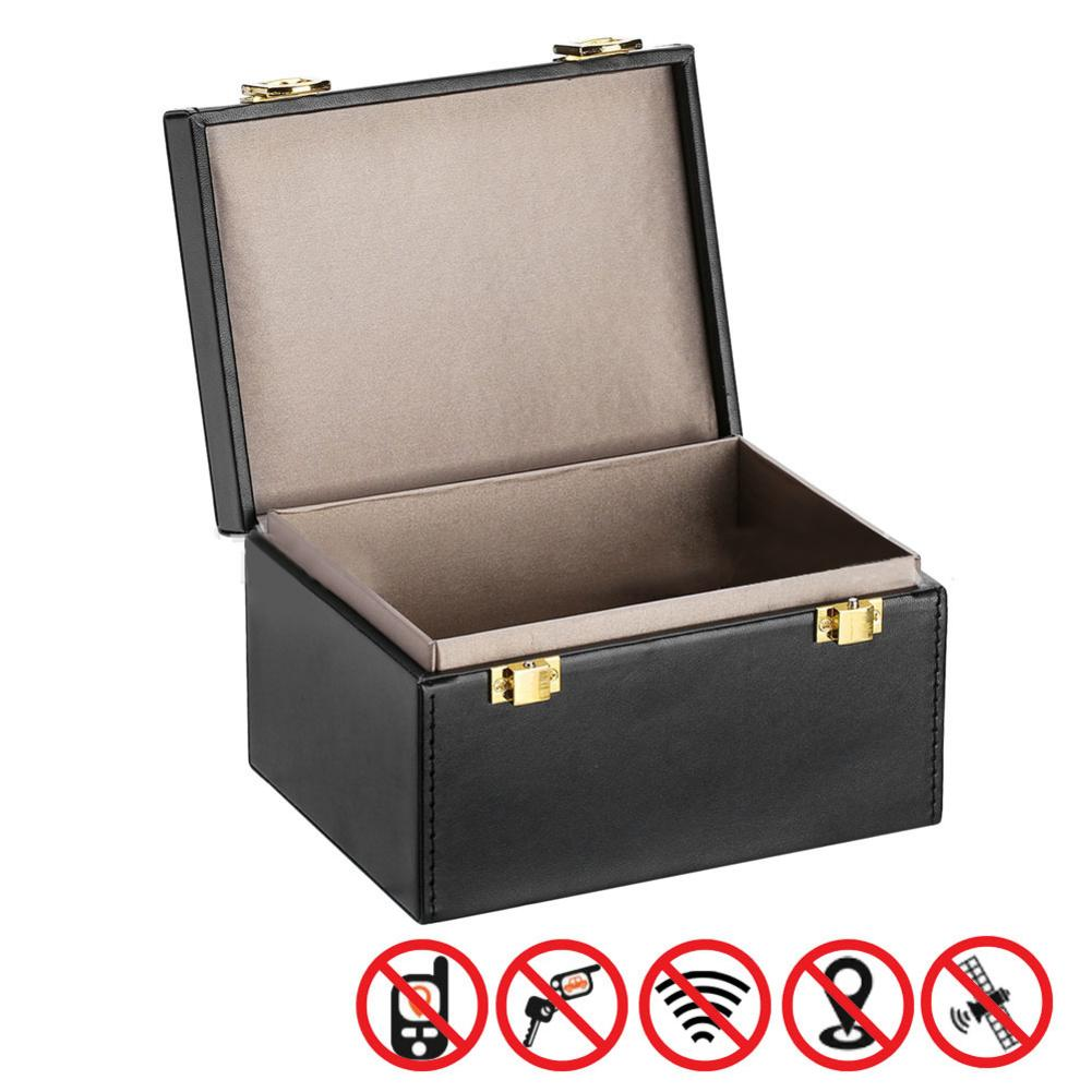 Faraday Box Signal Blocker Box for Car Keys Fob Phones Cards Call  amp  RFID Signal Blocking Case Car Key Anti Theft Safety Boxes