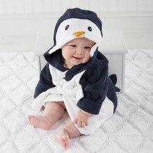 Банное полотенце с капюшоном и рисунком животных для малышей; фланелевый купальный халат с длинными рукавами и круглым вырезом; модная повседневная одежда для малышей