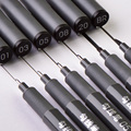 6 шт./компл. Водонепроницаемый пигменты для рисования отлично вкладыш игла для чертежная ручка профессиональный художественный маркер ручк...