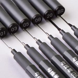 Image 1 - 6Pcs/Set Waterproof Sketch Pigment Fine Liner Pen Needle Drawing Pen Professional Art Marker Micron Pen School Office Stationery