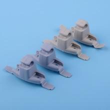 DWCX 2PCS Beige Grey Plastic Car Sun Visor Clip Holder Bracket Accessories Fit for BMW E46 3 Series 325 M3 51168243575