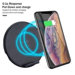 Image 3 - Shelbox 10W Veloce Caricabatterie Wireless Per Il Samsung Galaxy S10 S9 S9 + S8 Nota 9 USB Qi Pad di Ricarica per il iPhone 11 XS Max XR X 7 8 Più
