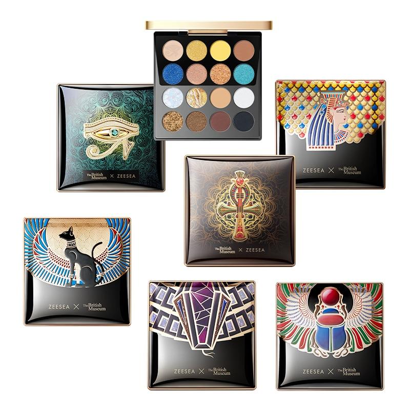 3051.0¥ 35% OFF ZEESEA アイシャドウ New 16 Colors Egypt Eyeshadow Palette Holographic Shiny Matte G...