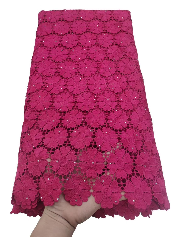 Mode nigérian français Soluble dans l'eau dentelle tissu petits trous africain Guipure cordon dentelle tissu pour matériel de mariée