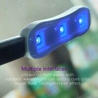 Mini Resin Curing Special Lamp Curing Glue UV Lamp Lighting Set Tool Car Front Windshield Glass Crack Repair Tools 1