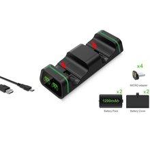 Podwójny kontroler stacja do ładowania dla Xbox One One S One X stacja ładowania ekran z 2 bateriami Microsoft ONLENY tanie tanio