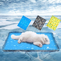 Pet Dogs Cats Summer Cooling Sleeping Mats Pads Beds Puppy Blankets Kennel Pad Cushion Keeping Cool Down Supplies Floor CoolerCM