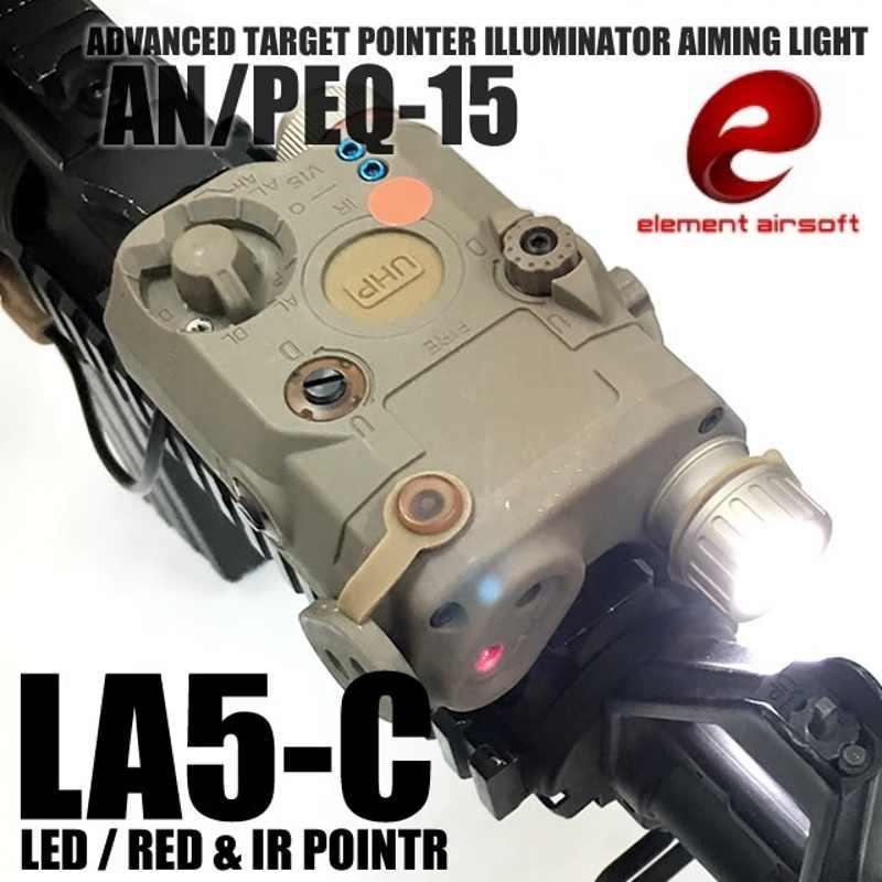 Element Airsoft PEQ-15 LA-5C UHP Uiterlijk Tactische Zaklamp Red Dot Sight IR Laser Pointer Hunting Wapen Gun Licht EX396