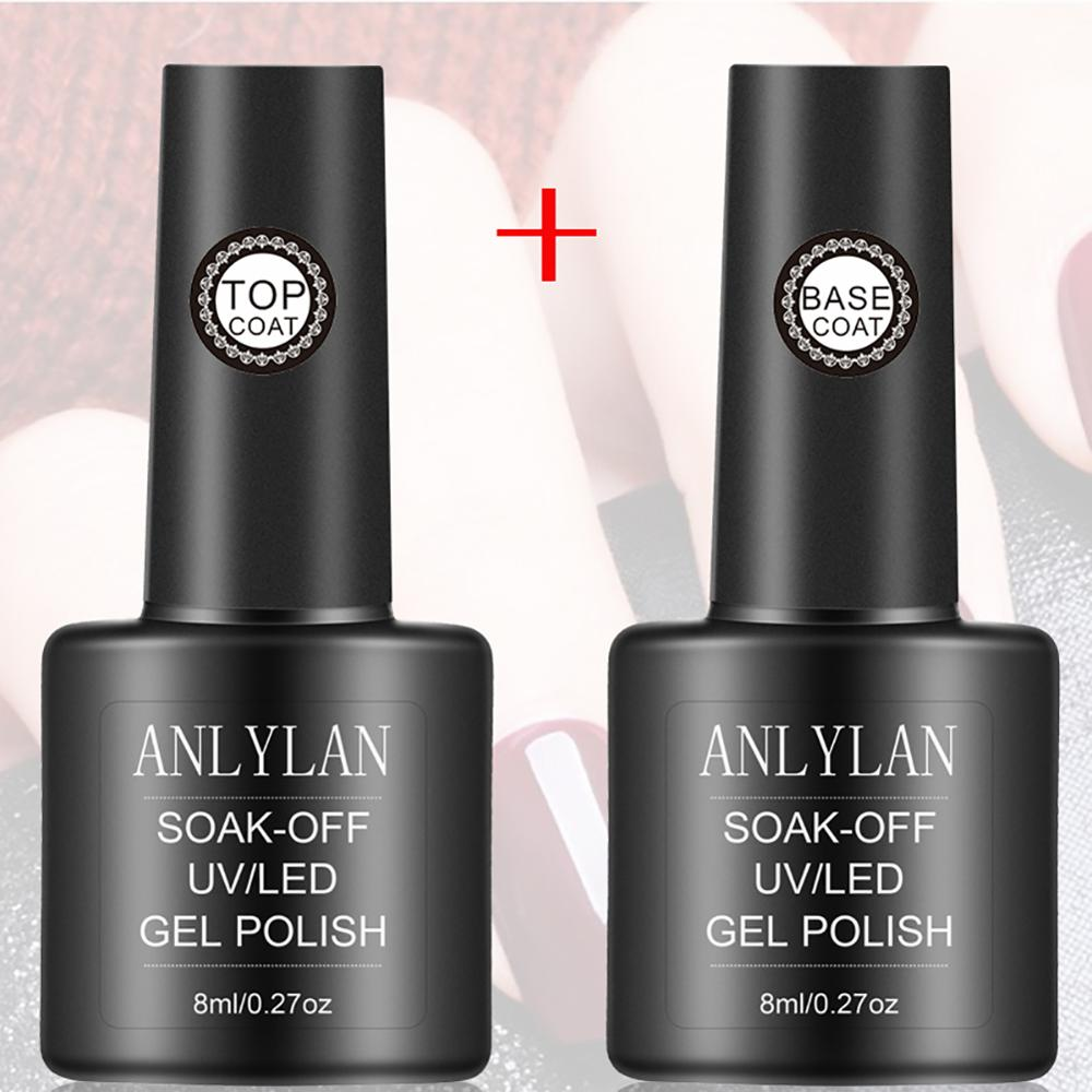 Base Top Coat Color Primer Gel Nail Polish Matte UV Top Coat UV LED Soak Off Nail Art Long-lasting Gel Varnish Manicure Lacquer