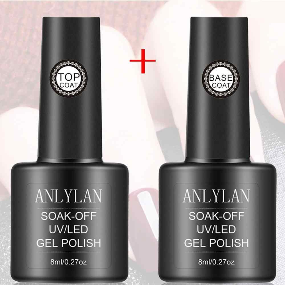 Capa superior para manicura, esmalte de Base de Color, imprimación de uñas en Gel, mate, UV, capa superior, LED UV, para manicura, larga duración