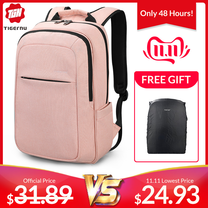 Tigernu Anti Theft Laptop Backpack Waterproof Bagpack Anti Fouling Men Backpack Schoolbag For Women