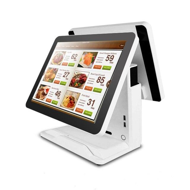 Systèmes capacitifs de contact de Terminal d'epos de PC de caisse enregistreuse de double écran de 15 pouces pour la vente au détail 2